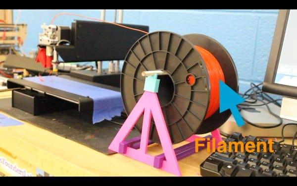 3D printer and PLA filament spool