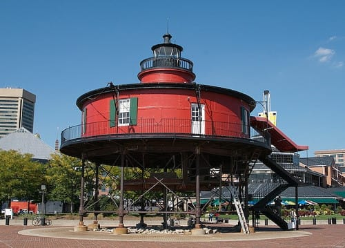 Seven Foot Knoll Lighthouse in Baltimore