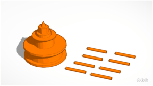 Seven Foot Knoll Lighthouse modeled in Tinkercad