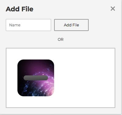 p5 file load modal with img loaded